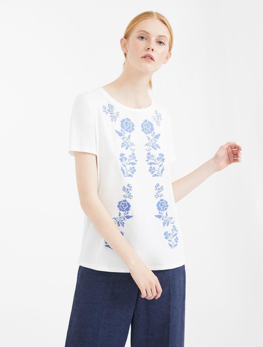 Embroidered cotton jersey T-shirt Weekend Maxmara