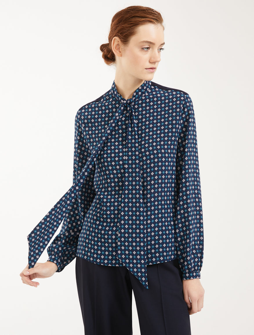Silk and jersey crepe de chine blouse Weekend Maxmara