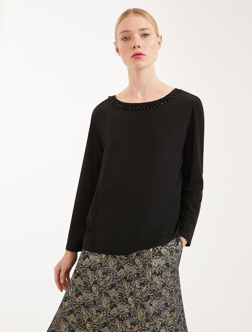 Silk and jersey crepe de chine T-shirt Weekend Maxmara