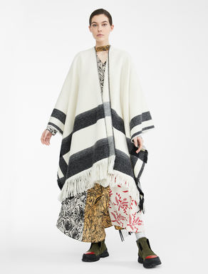 Poncho Re-Find in lana Weekend Maxmara