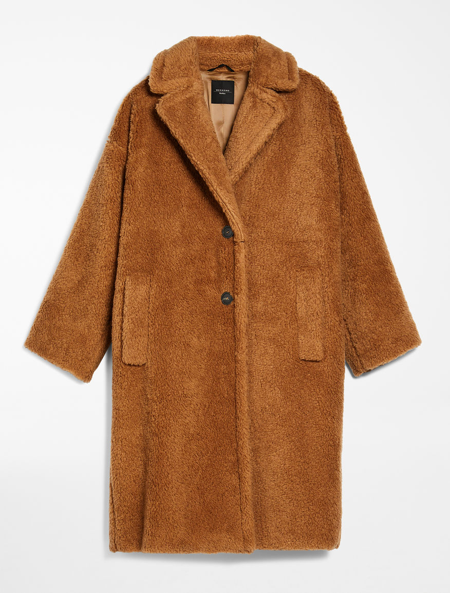 Coat in fur effect wool Weekend Maxmara
