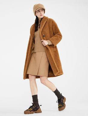 Coat in fur effect wool Weekend Maxmara