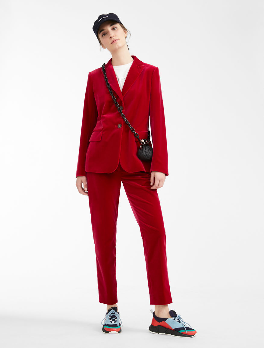Cotton velvet blazer Weekend Maxmara