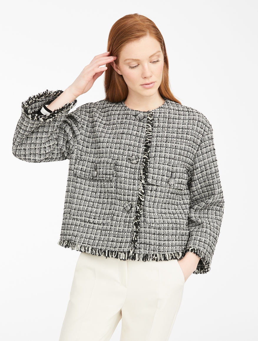 Tweed-effect fabric jacket Weekend Maxmara
