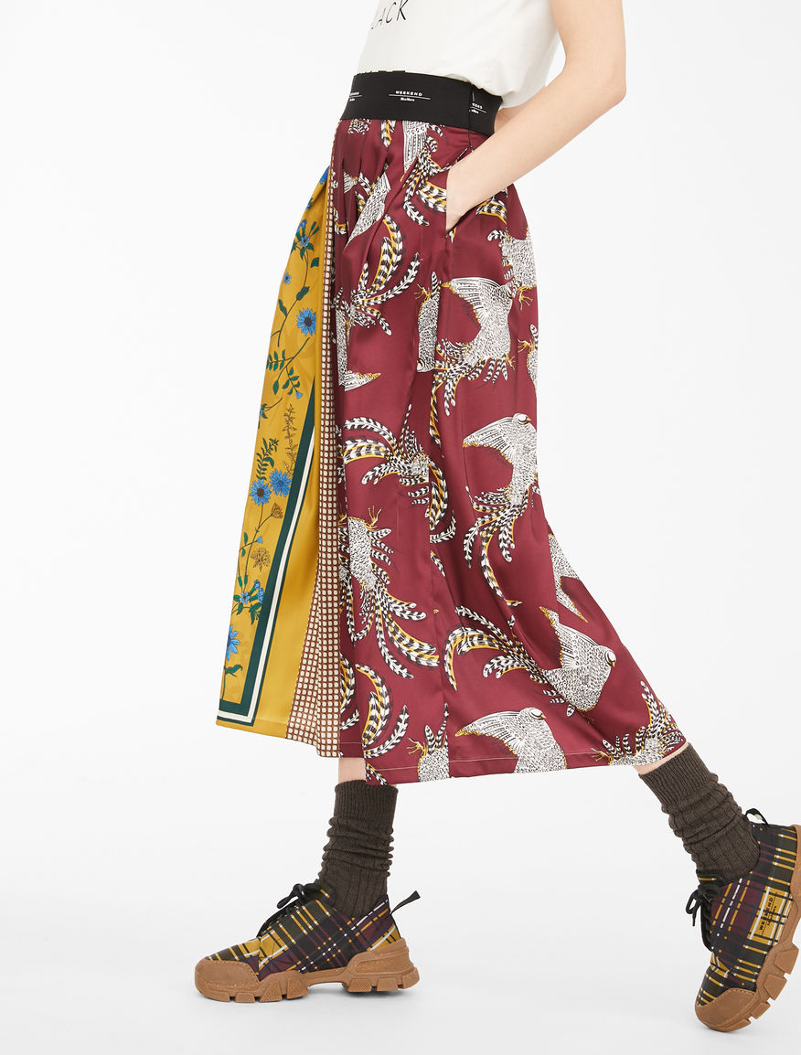 Printed twill skirt Weekend Maxmara