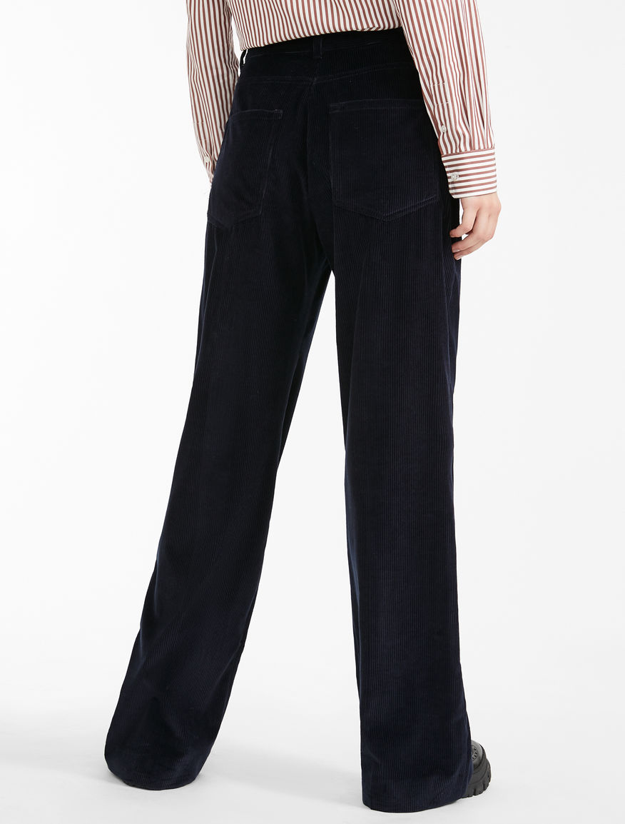 Cotton corduroy trousers Weekend Maxmara