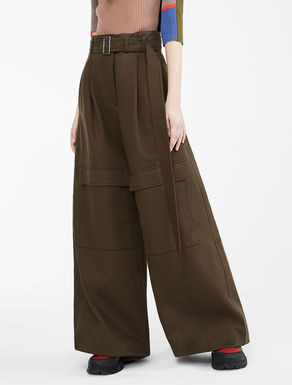 Pantaloni Re-Find in bull di cotone Weekend Maxmara