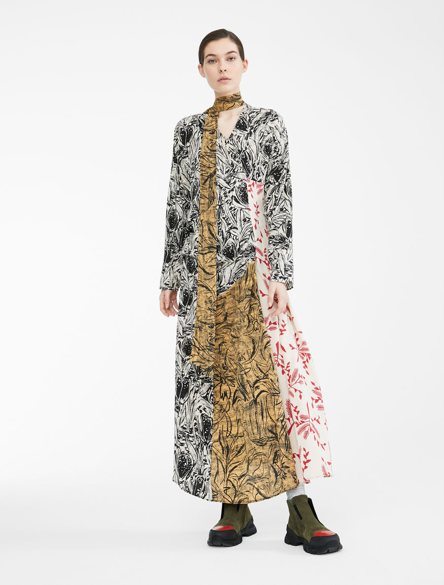 Re-Find silk crepe de chine dress Weekend Maxmara