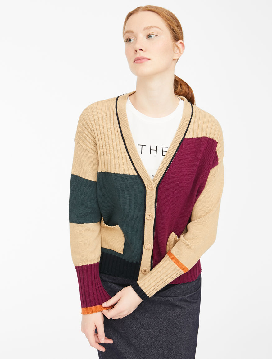 Wool and cotton cordelet cardigan Weekend Maxmara