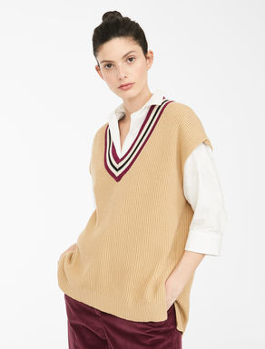Wool and cotton cordelet gilet Weekend Maxmara