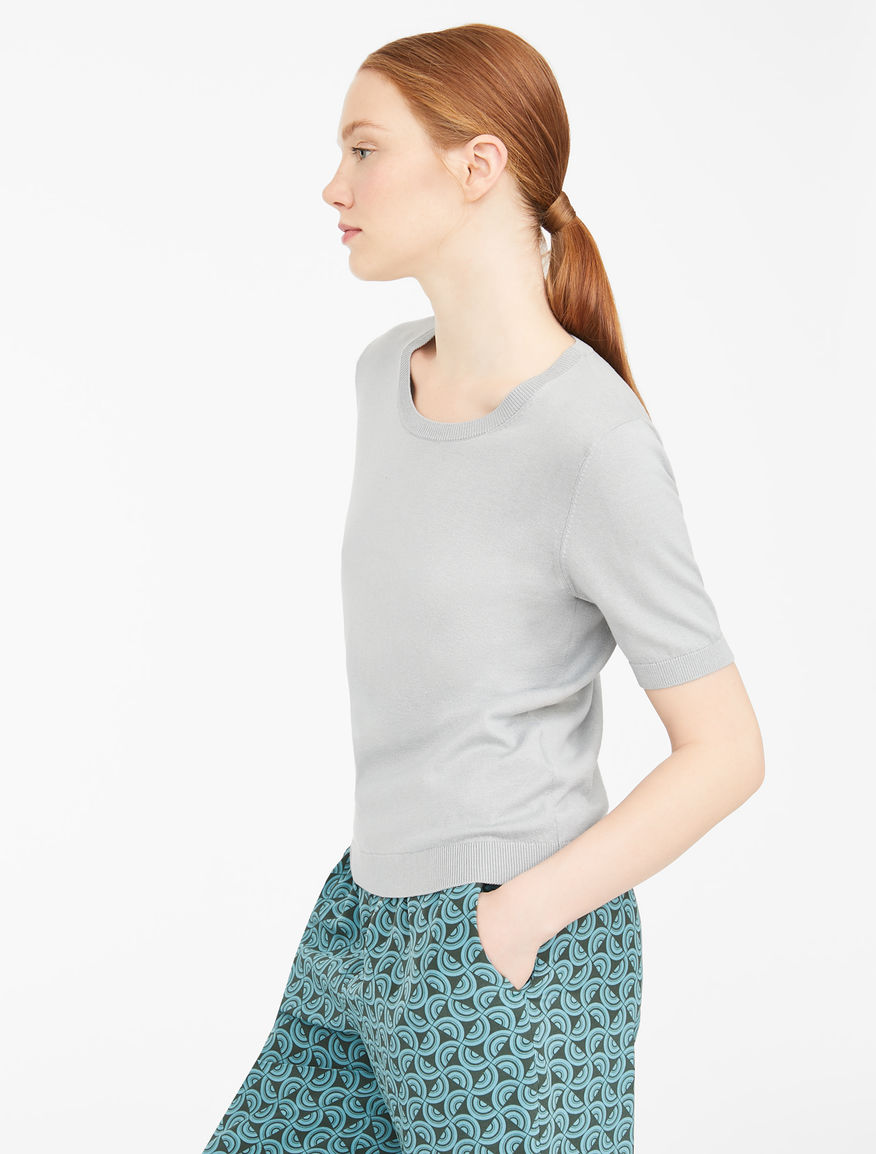 Cotton and silk yarn T-shirt Weekend Maxmara