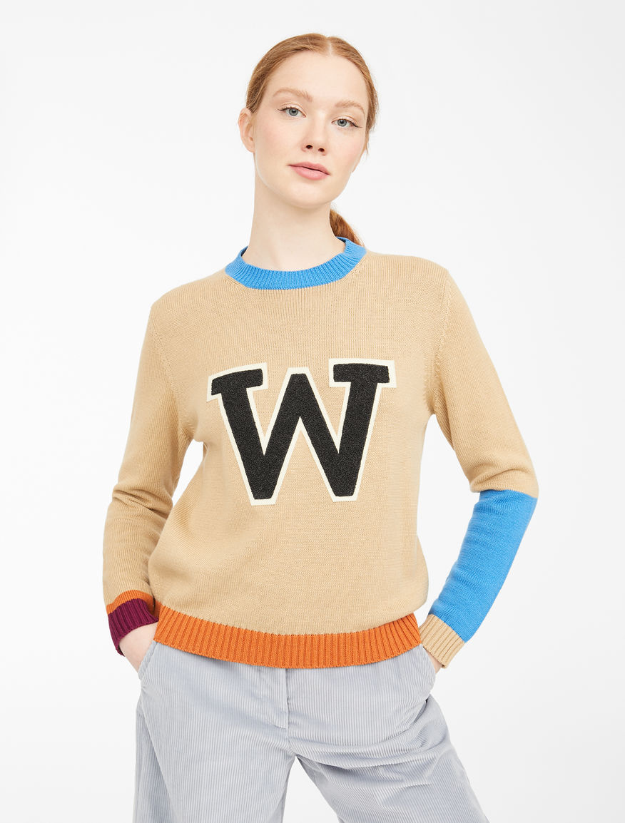 Wool and cotton cordelet jumper Weekend Maxmara