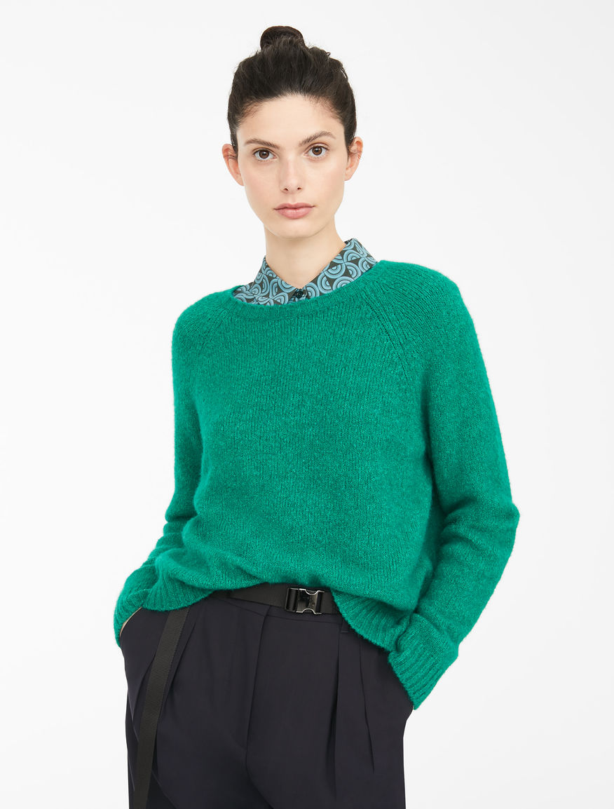 Cotton and alpaca wool yarn jumper Weekend Maxmara