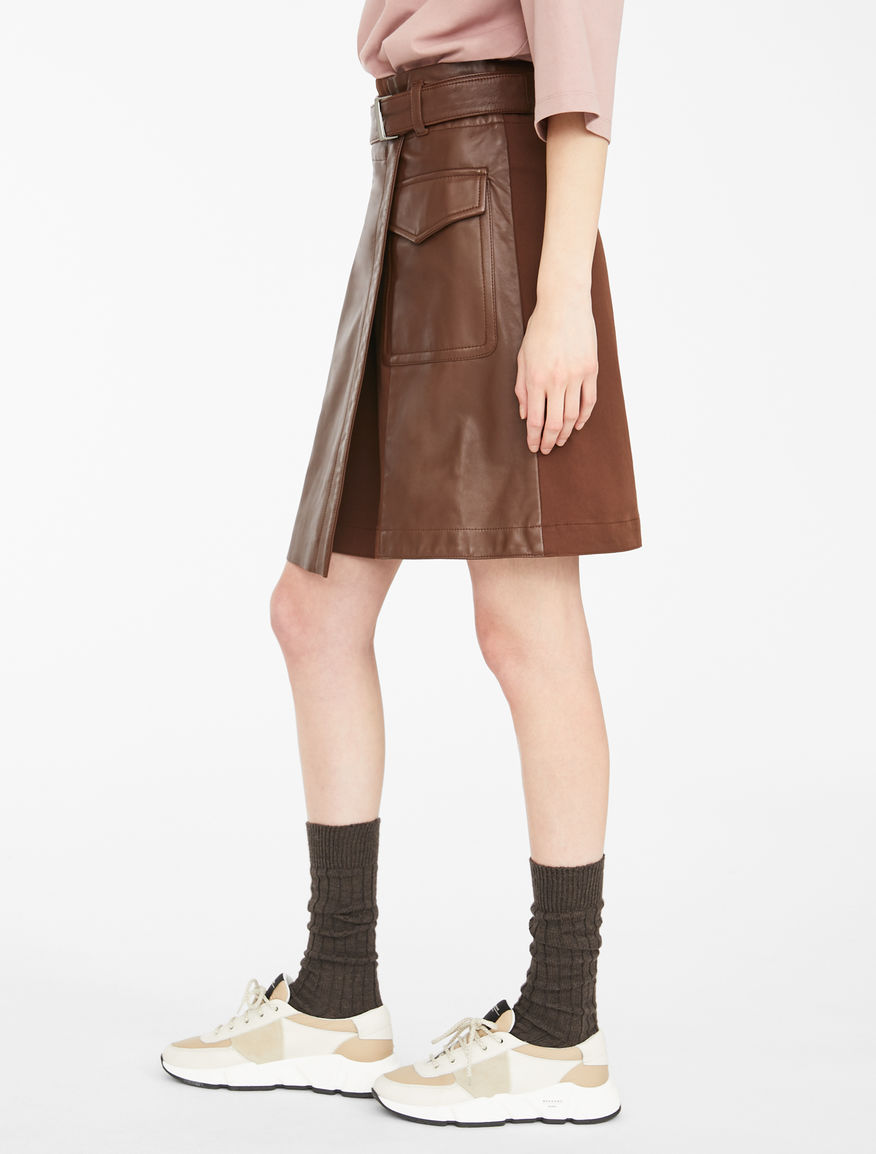 Nappa leather skirt Weekend Maxmara