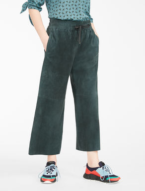 Suede leather trousers Weekend Maxmara