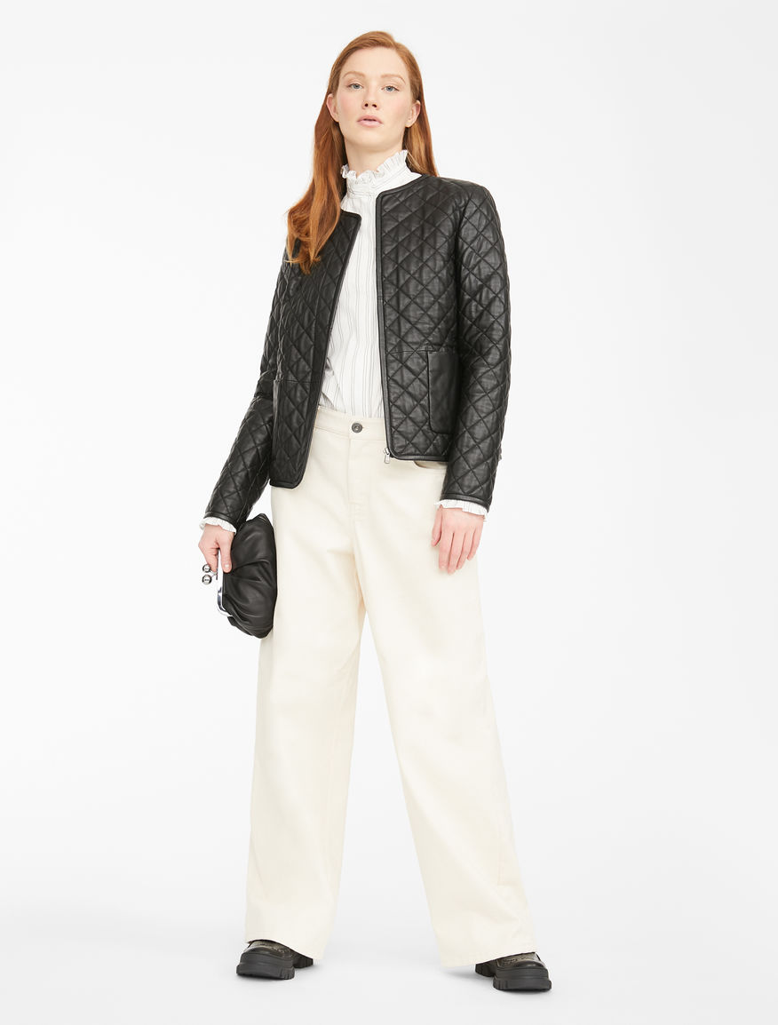Quilted leather jacket Weekend Maxmara