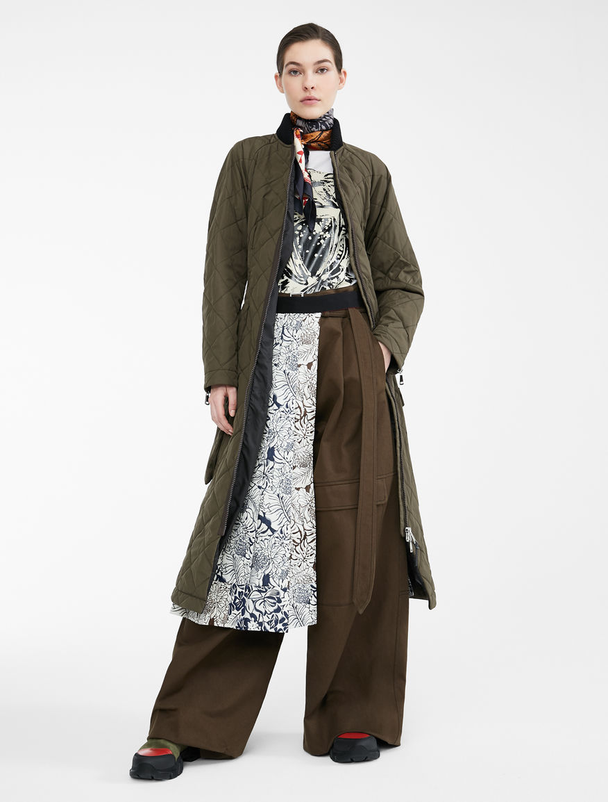 Re-Find water-repellent gabardine coat Weekend Maxmara
