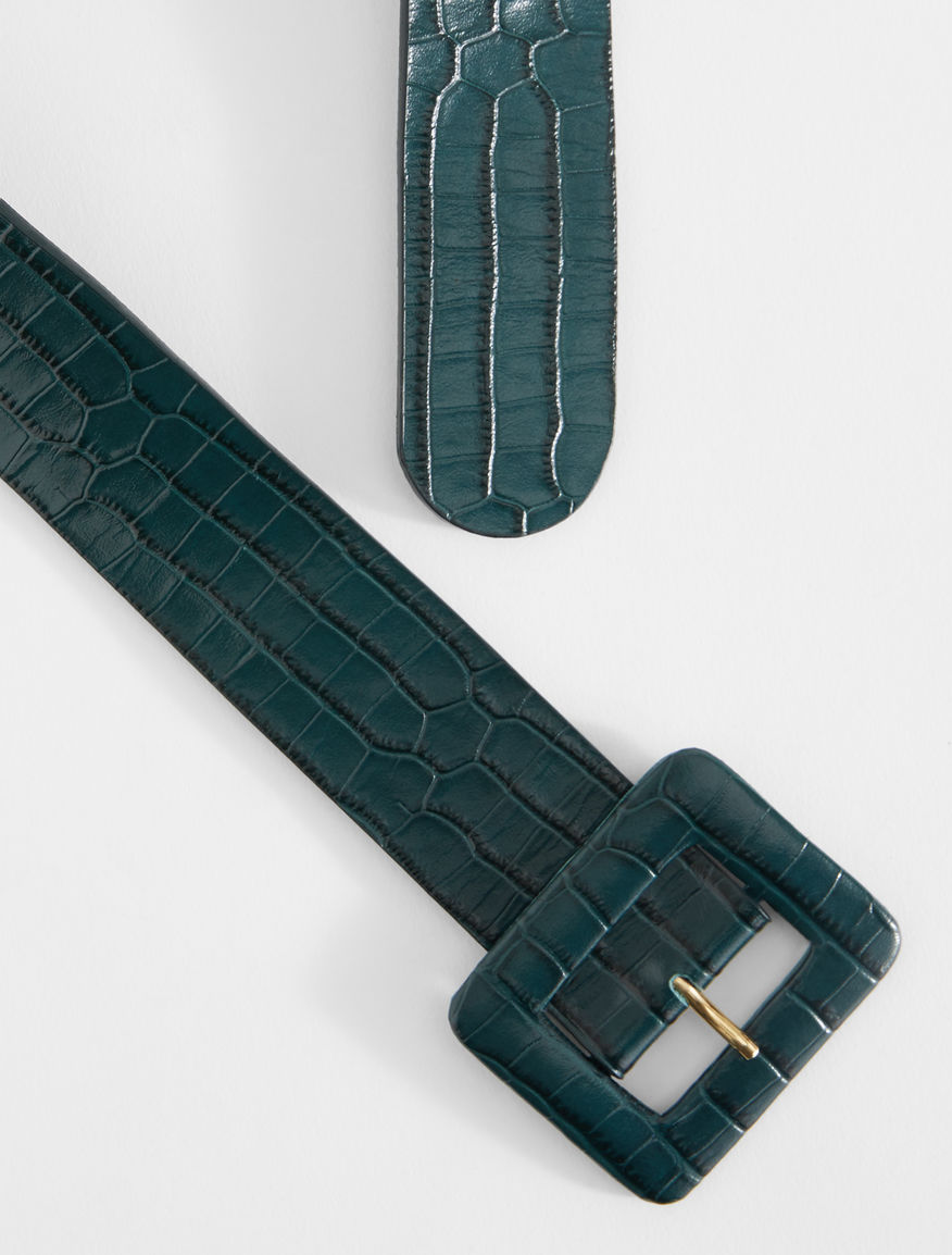 Croc print leather belt Weekend Maxmara