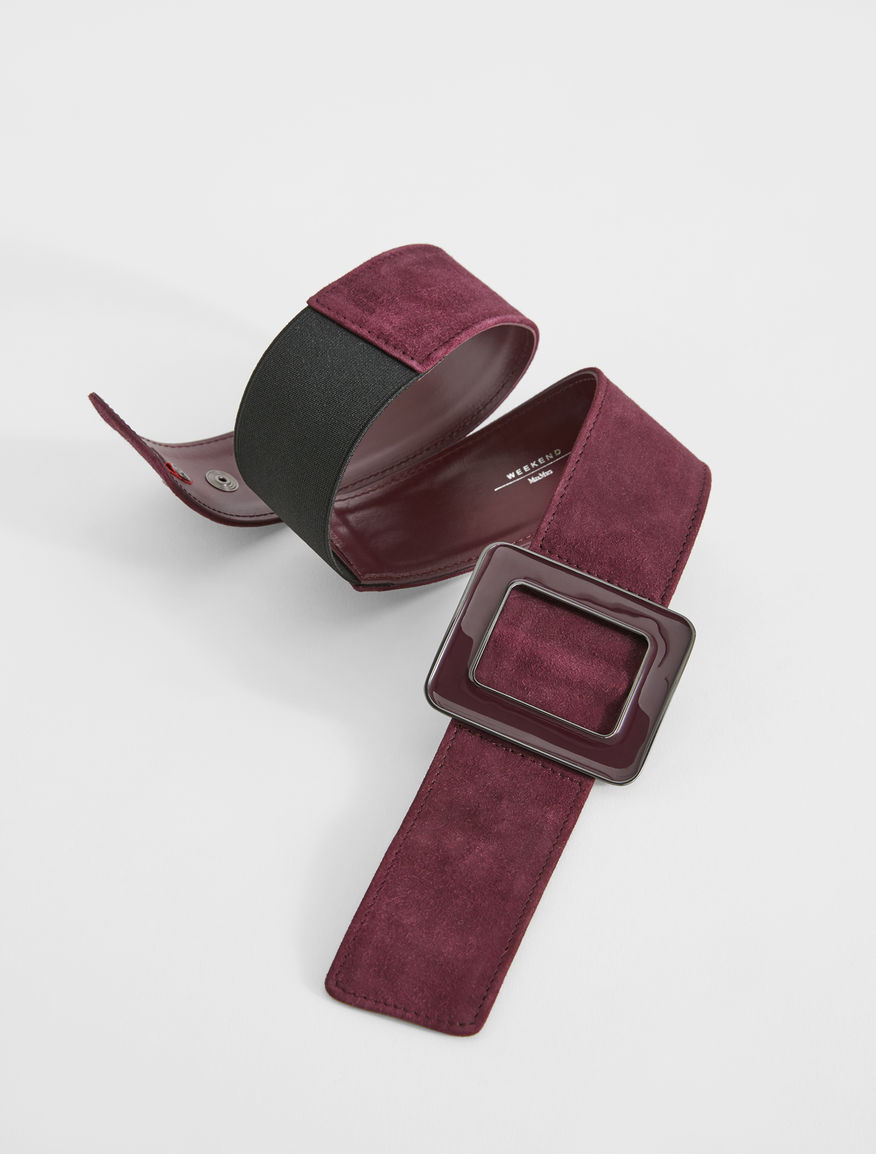 Suede leather belt Weekend Maxmara