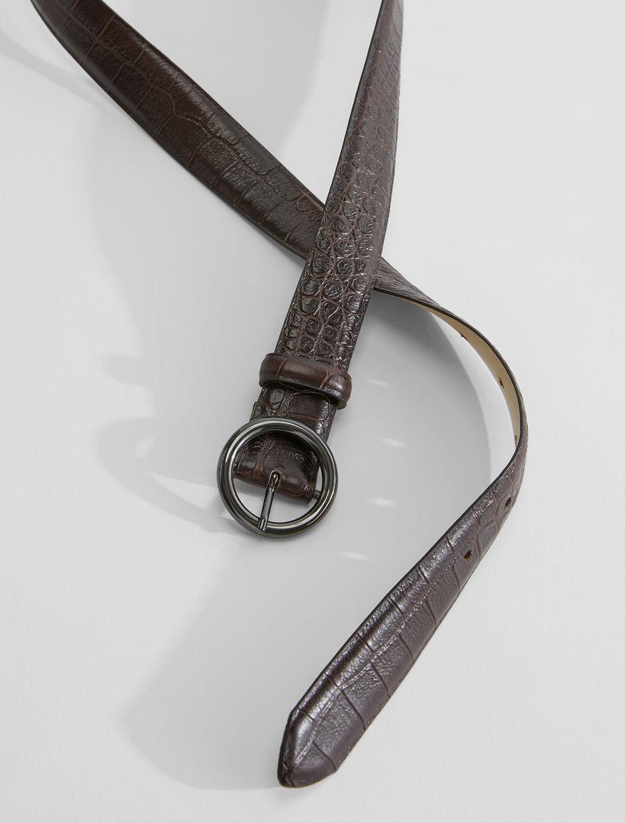 Croc print leather belt Weekend Maxmara