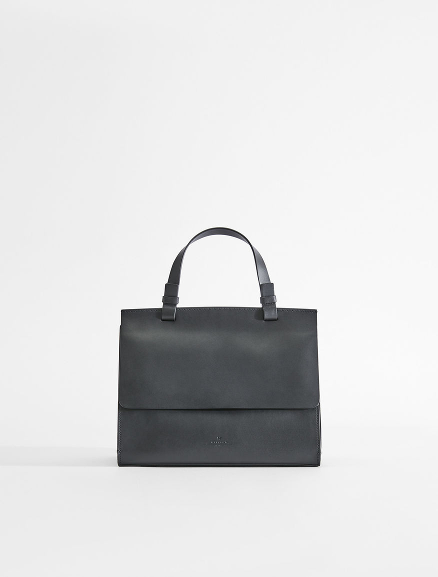 Semi-gloss leather bauletto bag Weekend Maxmara