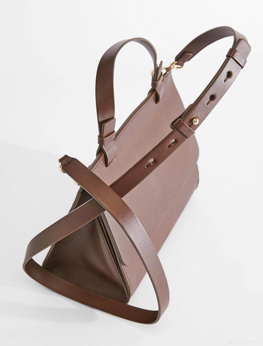 Semi-gloss leather bauletto bag Weekend Maxmara