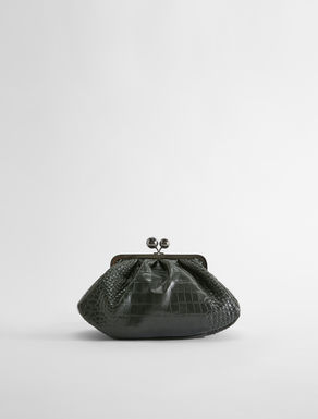 Medium croc-print leather Pasticcino Bag Weekend Maxmara