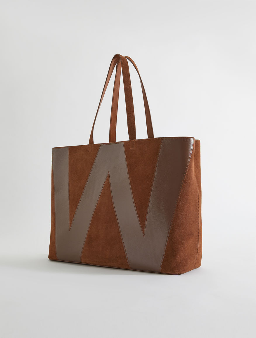 Suede leather shopper bag Weekend Maxmara