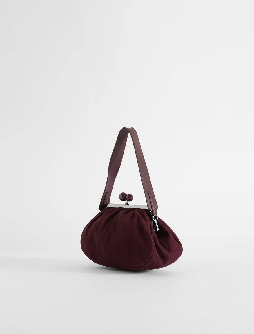 Medium suede leather Pasticcino Bag Weekend Maxmara