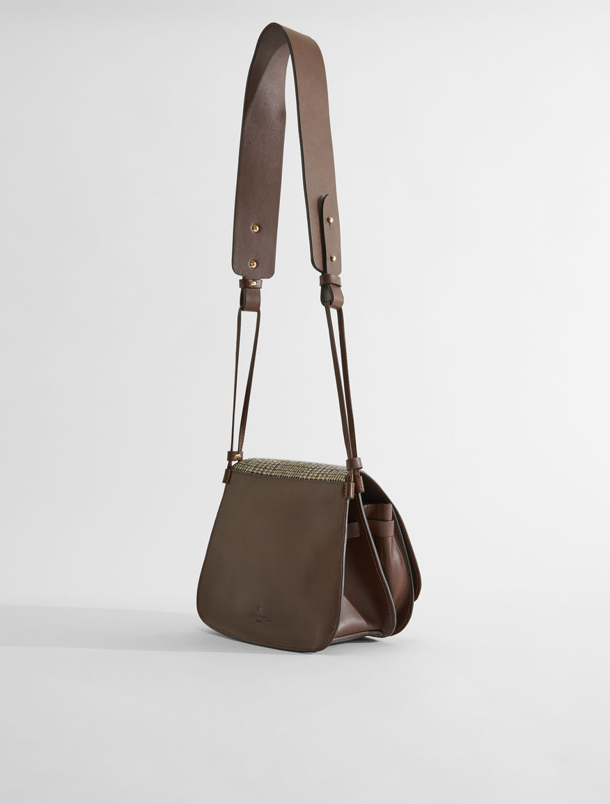 Leather and wool crossbody bag Weekend Maxmara