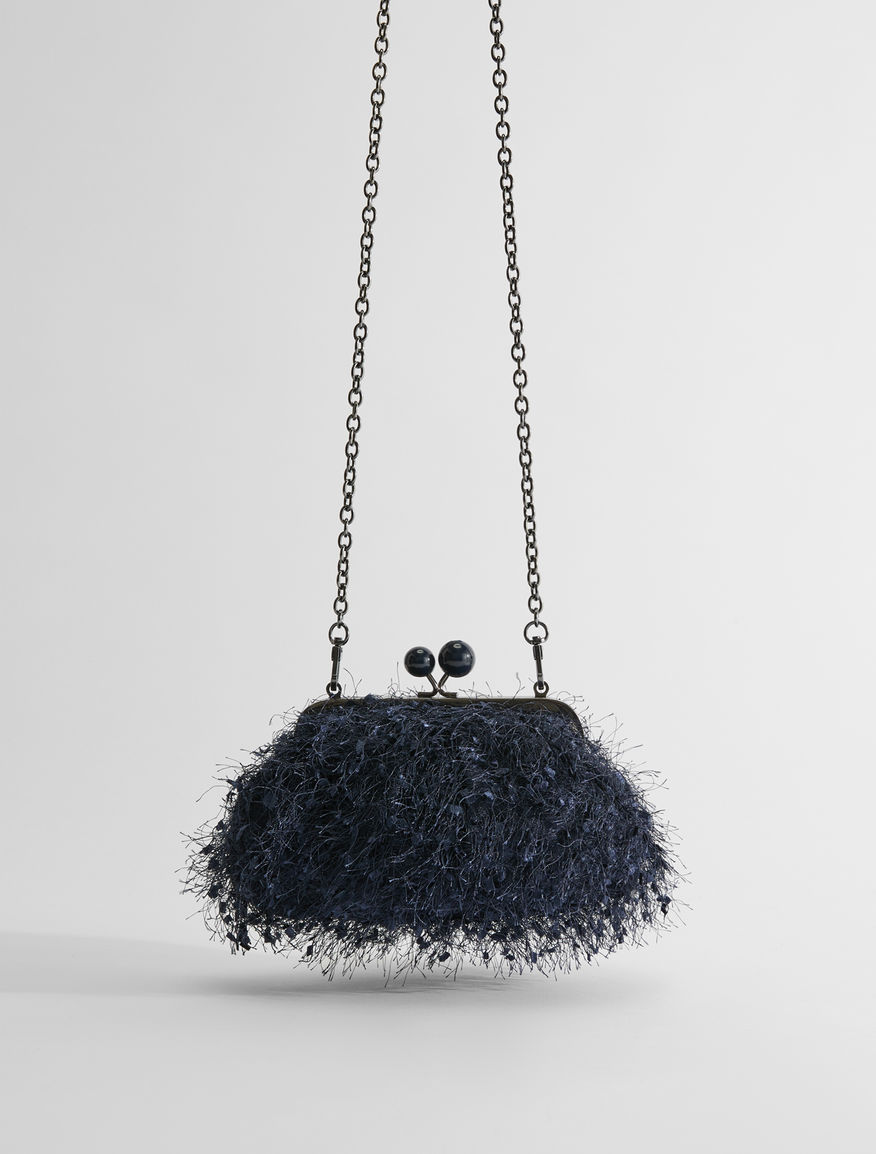 Small feather-effect canvas Pasticcino Bag Weekend Maxmara