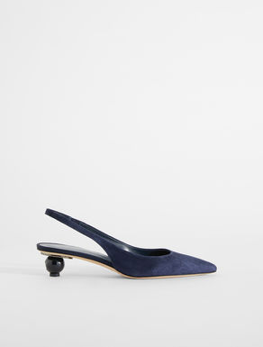 Slingback in pelle scamosciata Weekend Maxmara