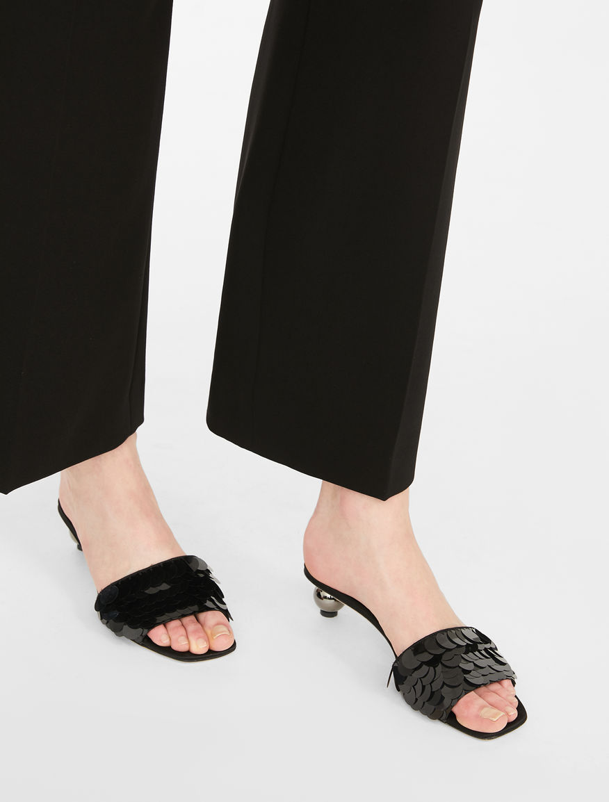 Embroidered satin mules Weekend Maxmara