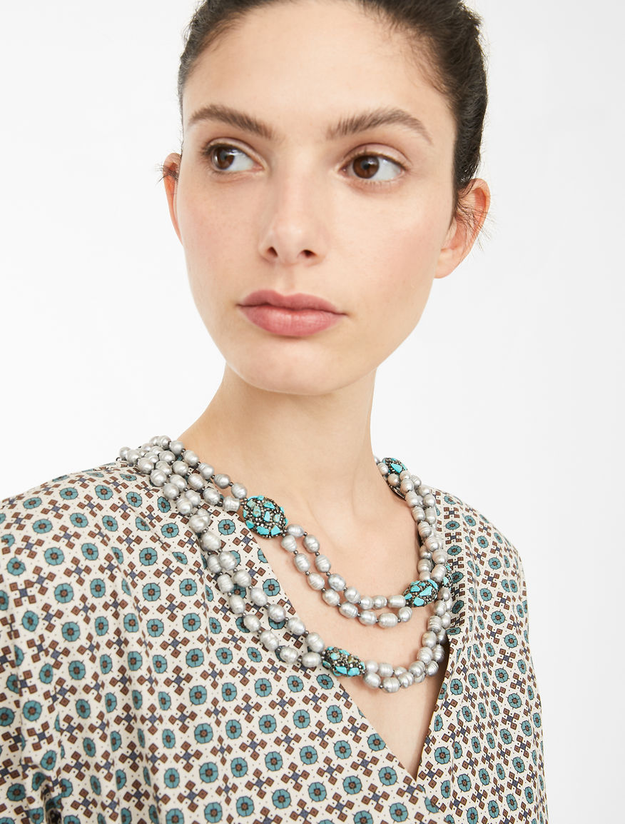 Pearl and rhinestone necklace Weekend Maxmara