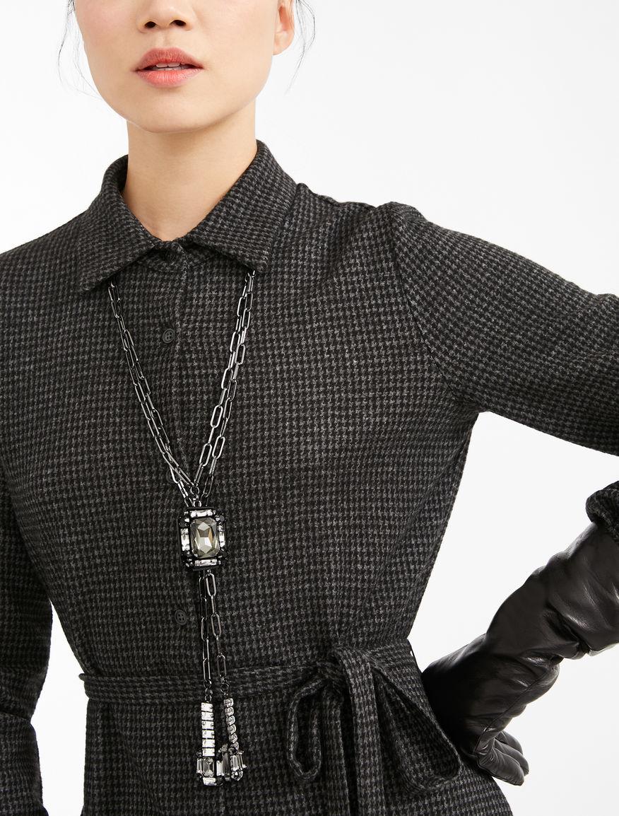 Necklace with rhinestone pendants Weekend Maxmara