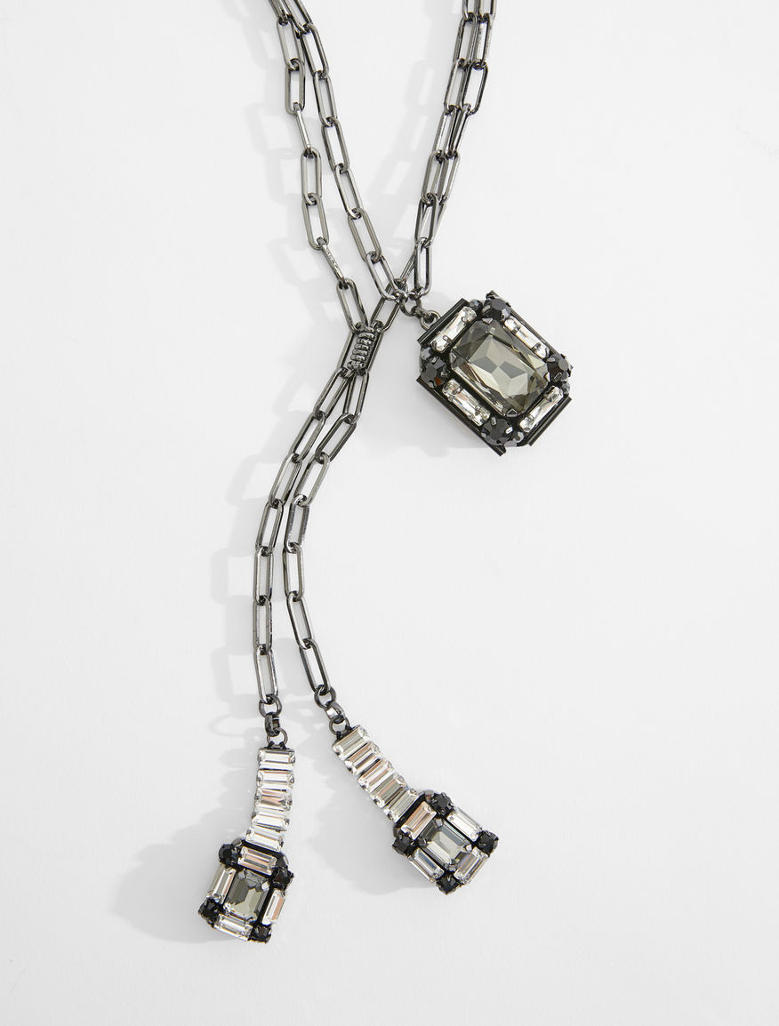 Necklace with rhinestone pendants Weekend Maxmara