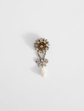 Rhinestone brooch with pearls Weekend Maxmara