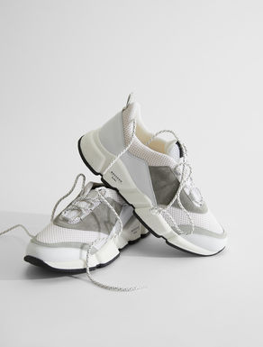 Sneaker lace up in pelle e rete Weekend Maxmara