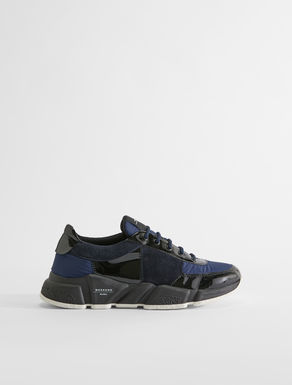 Leather and mesh lace-up trainers Weekend Maxmara