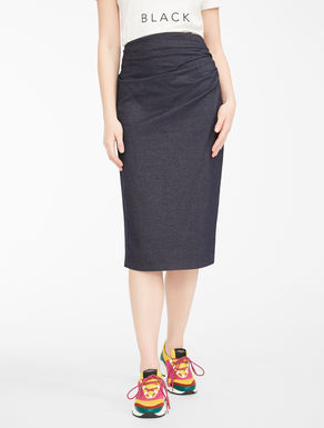 Denim-effect jersey skirt Weekend Maxmara
