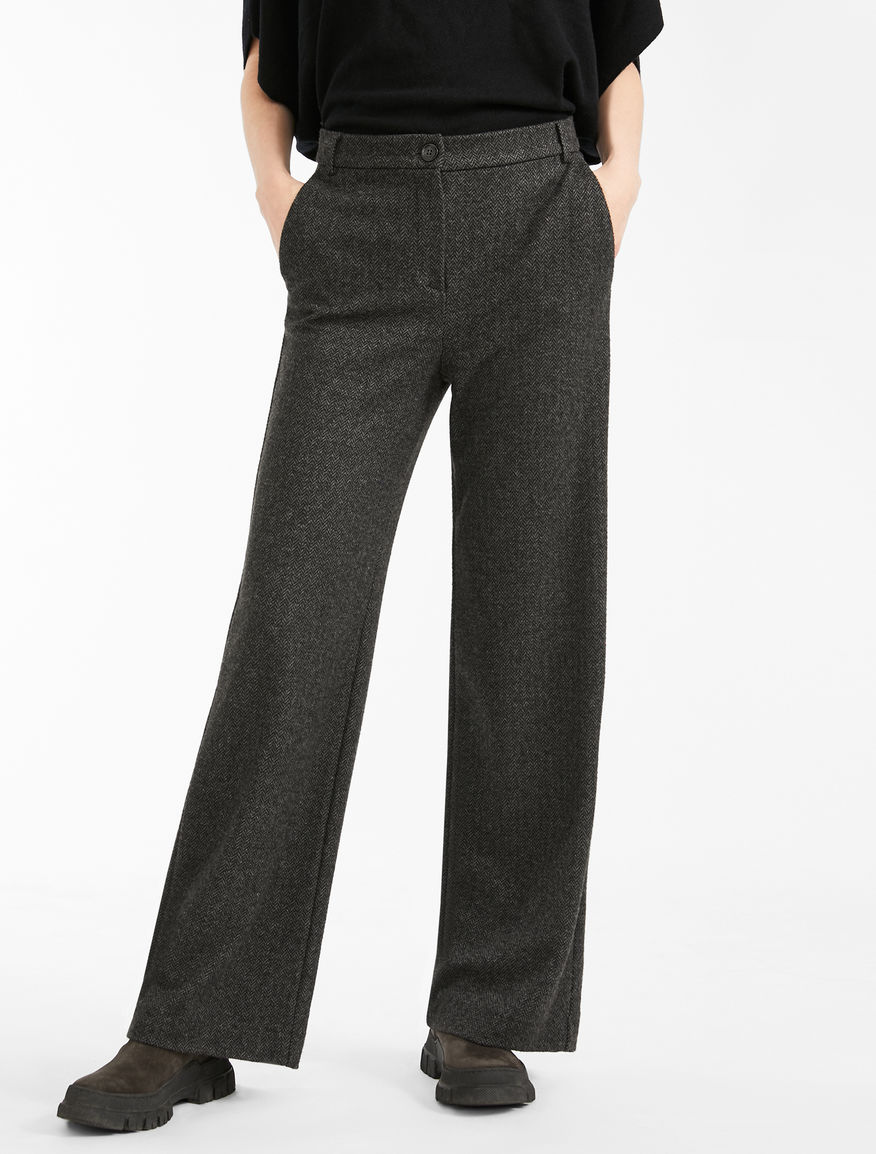 Flannel jersey trousers Weekend Maxmara