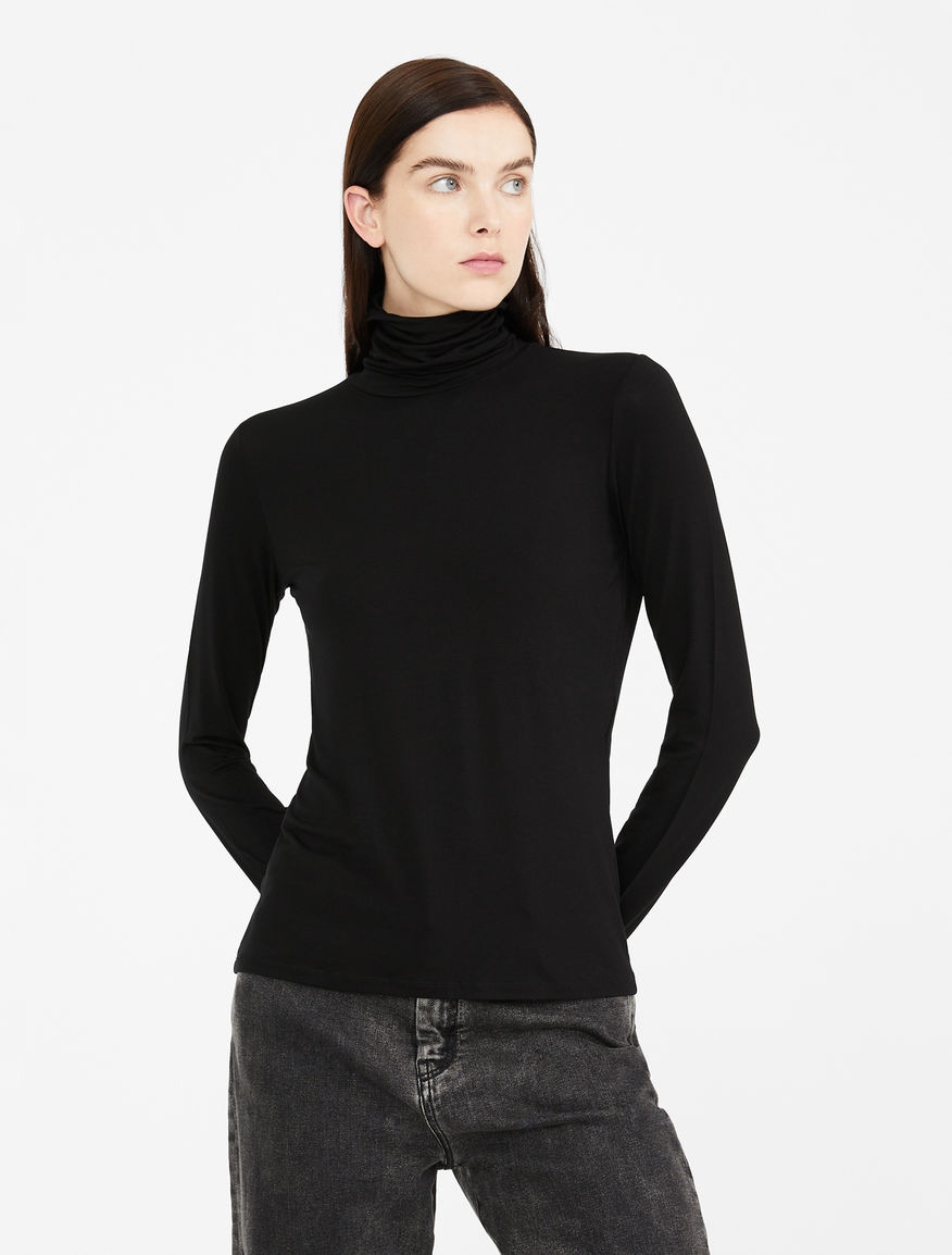 Viscose jersey polo neck jumper Weekend Maxmara