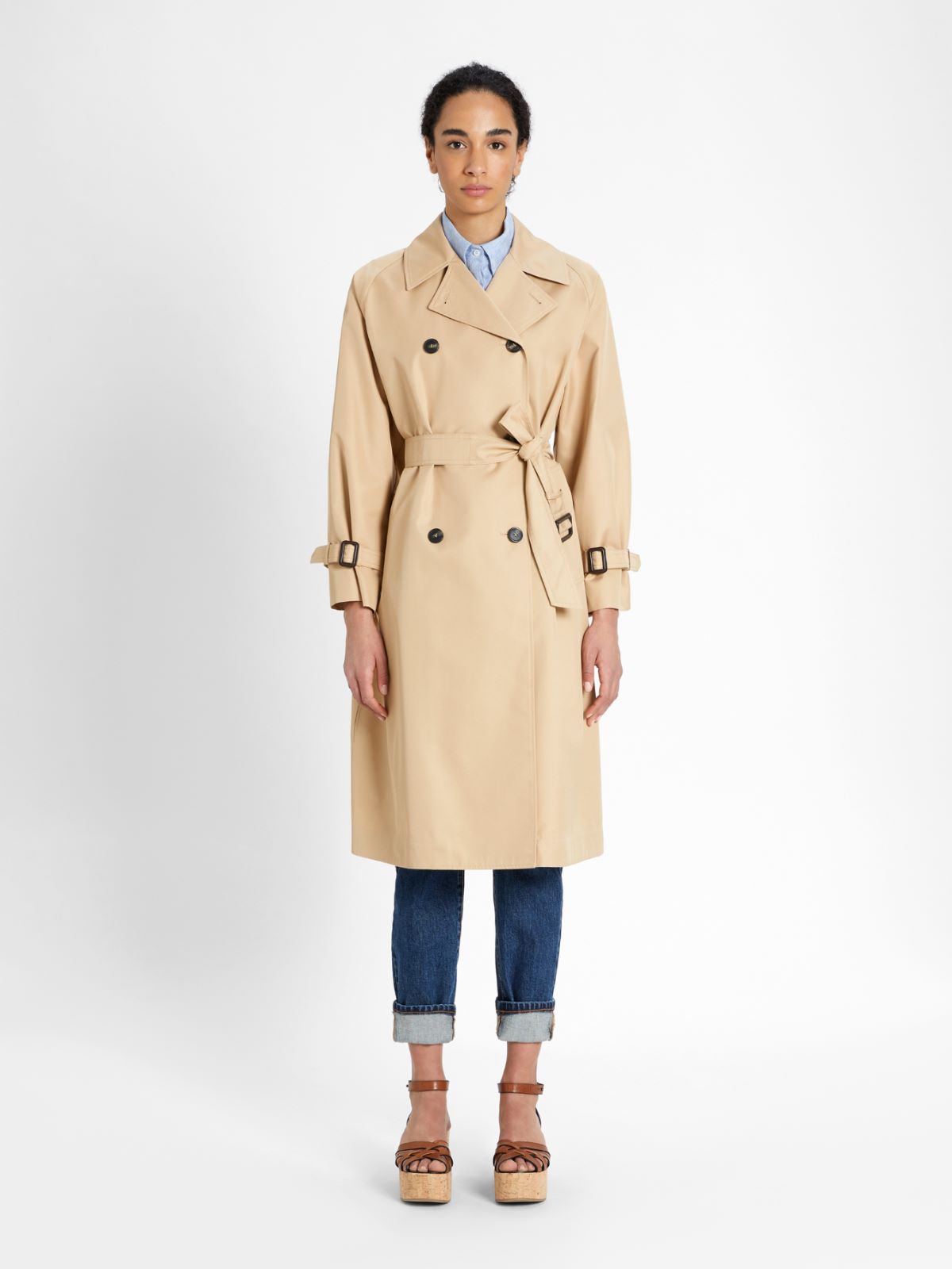 Water-repellent gabardine trench coat Weekend Maxmara