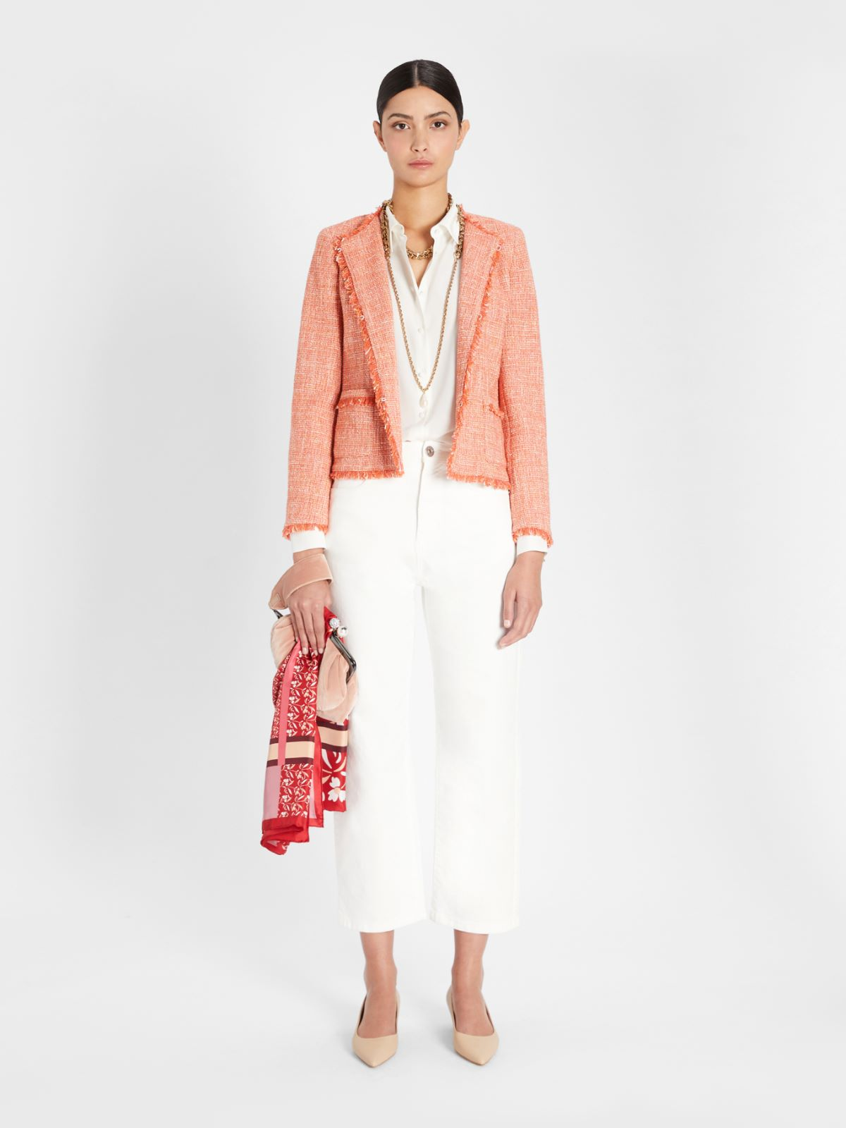 Viscose and cotton basketweave jacket Weekend Maxmara
