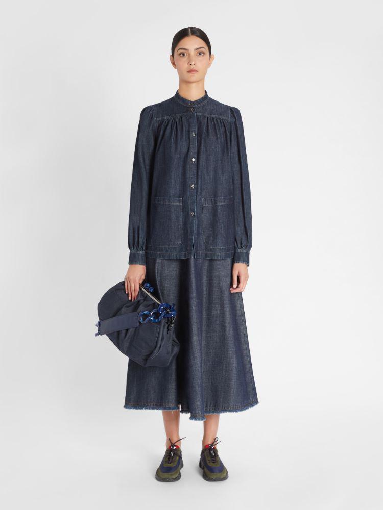Cotton denim skirt Weekend Maxmara