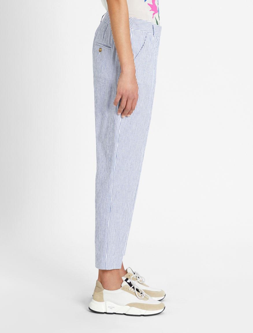 Pantaloni in cotone e lino Weekend Maxmara