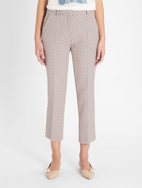 Cotton jacquard trousers Weekend Maxmara