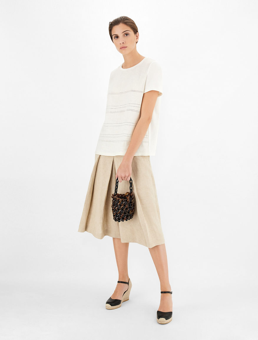 Linen canvas culottes Weekend Maxmara