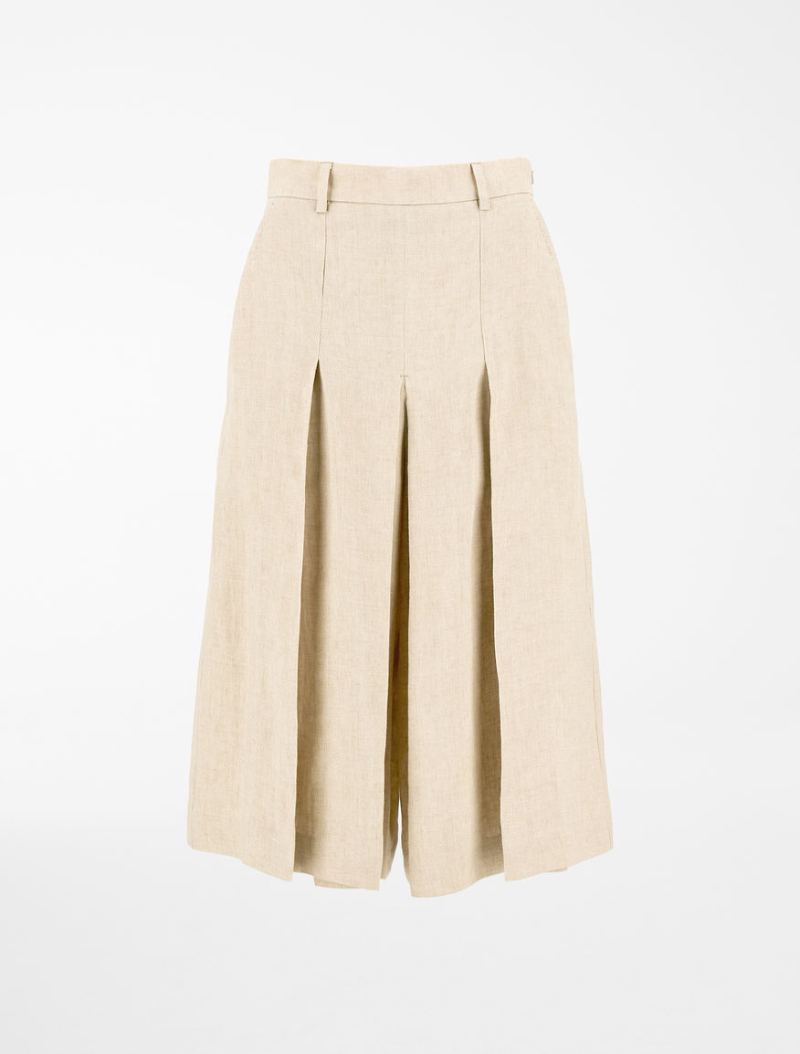 Gonna pantalone in canvas di lino Weekend Maxmara