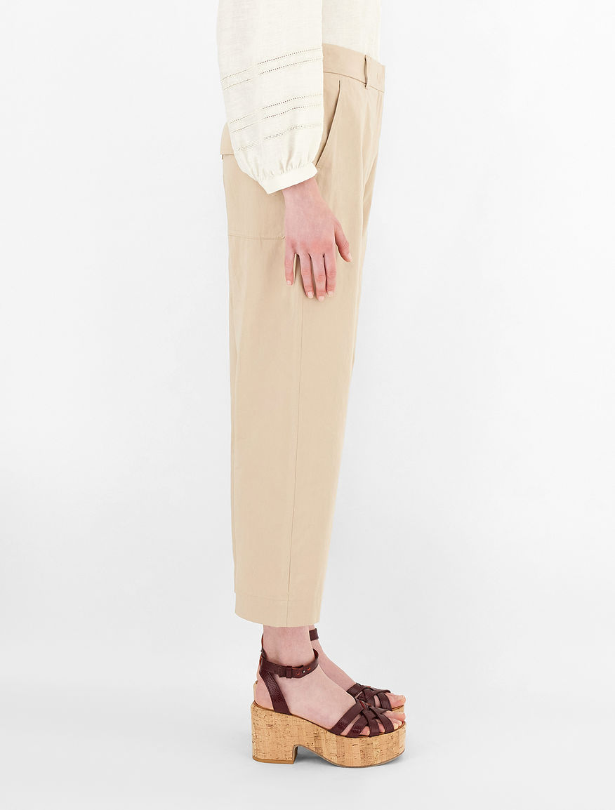 Pantaloni in rasetto di cotone Weekend Maxmara
